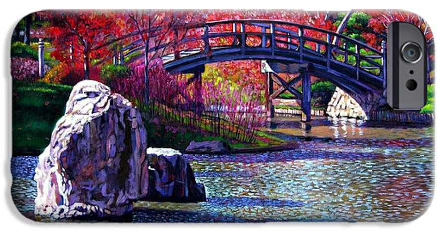 Garden IPhone 6 Case featuring the painting Fall In The Garden by John Lautermilch