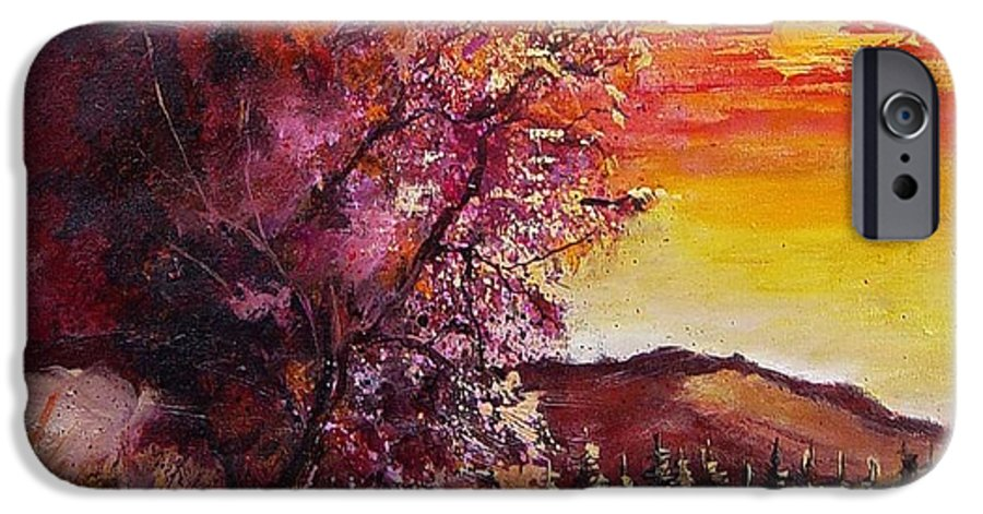 Autumn IPhone 6 Case featuring the painting Fall In Villers by Pol Ledent