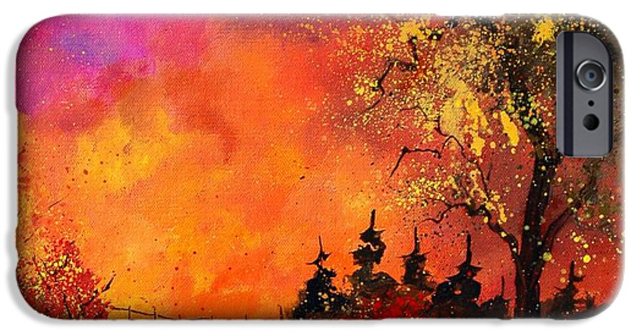 River IPhone 6 Case featuring the painting Fall by Pol Ledent