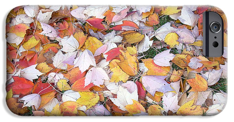Photography Fall Autum Leaves IPhone 6 Case featuring the photograph Fallen Fantasy by Karin Dawn Kelshall- Best