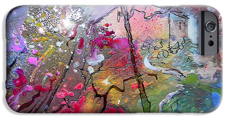 Miki IPhone 6 Case featuring the painting Fantaspray 19 1 by Miki De Goodaboom