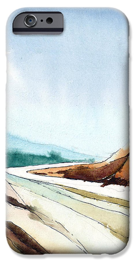 Landscape IPhone 6 Case featuring the painting Far Away by Anil Nene
