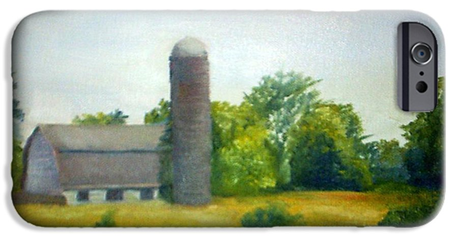 Farm IPhone 6 Case featuring the painting Farm In The Pine Barrens by Sheila Mashaw