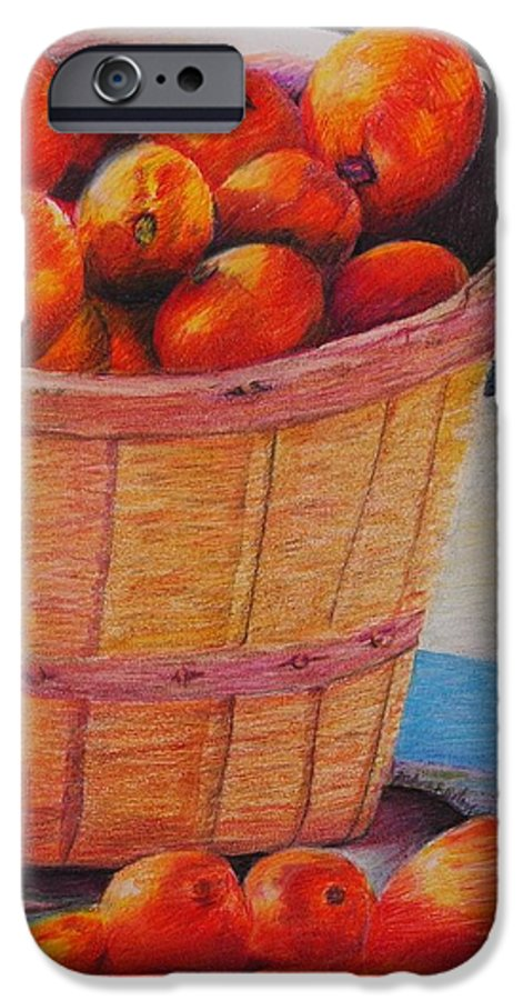 Produce In A Basket IPhone 6 Case featuring the drawing Farmers Market Produce by Nadine Rippelmeyer