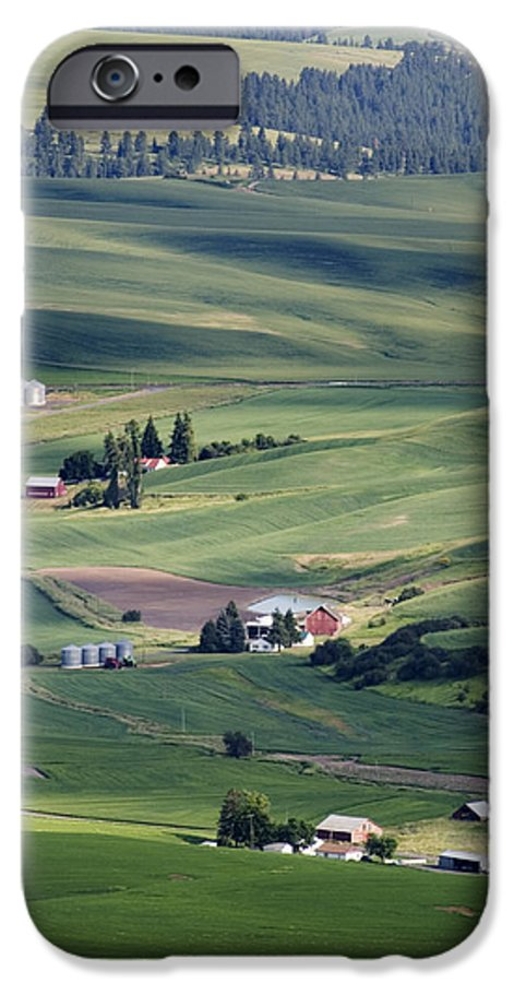Fertile IPhone 6 Case featuring the photograph Farmland In Eastern Washington State by Carl Purcell