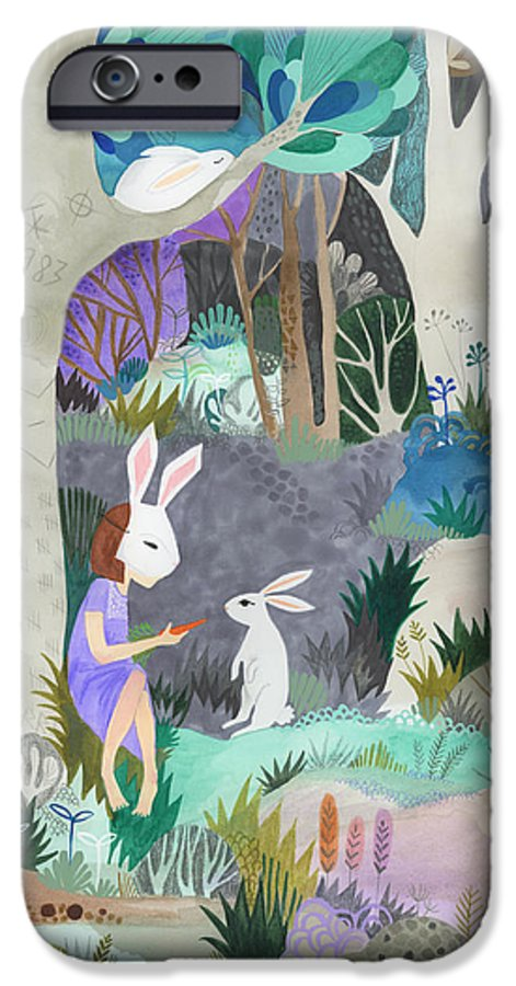 Bunny IPhone 6 Case featuring the painting Faux Fur by Kate Cosgrove