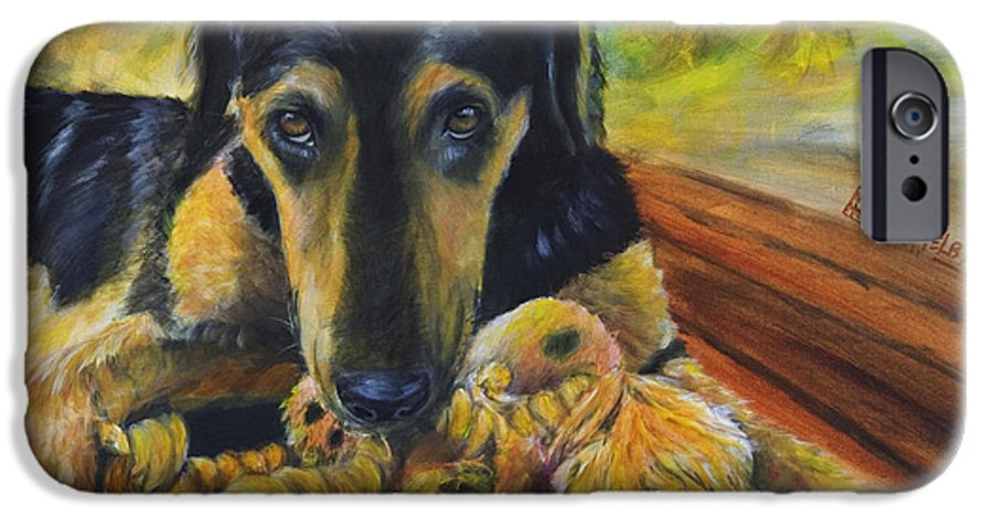 Dog IPhone 6 Case featuring the painting Favorite Things by Nik Helbig