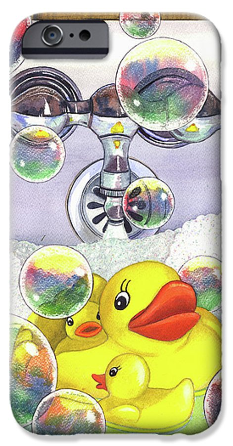 Bubbles IPhone 6 Case featuring the painting Feelin Ducky by Catherine G McElroy