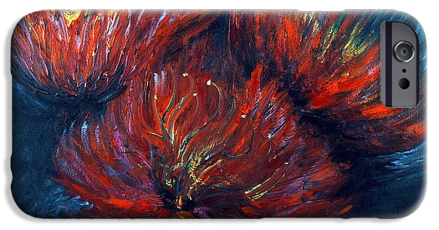 Abstract IPhone 6 Case featuring the painting Fellowship by Nadine Rippelmeyer