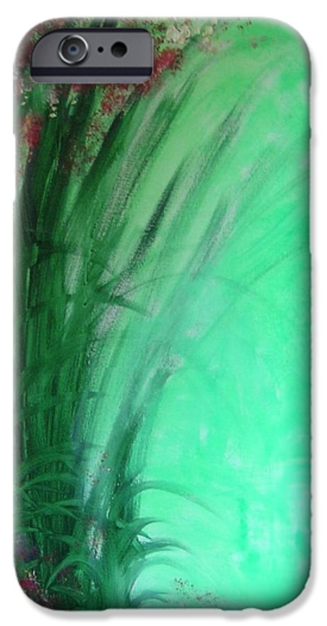 Green Ferns IPhone 6 Case featuring the painting Ferns by Lizzy Forrester