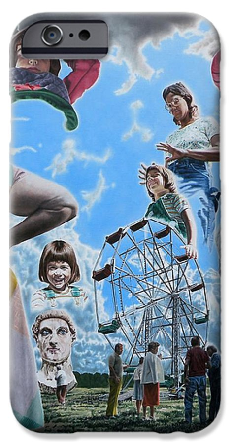 Woman IPhone 6 Case featuring the painting Ferris Wheel by Dave Martsolf