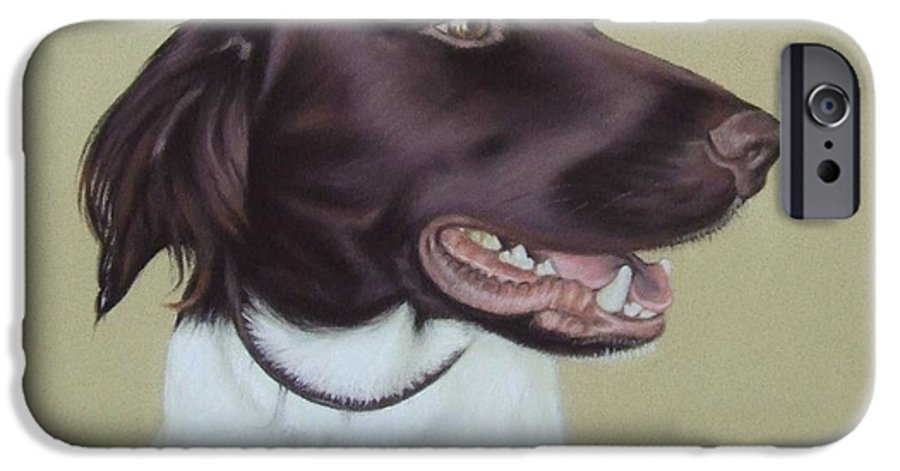 Dog IPhone 6 Case featuring the pastel Fiete by Nicole Zeug