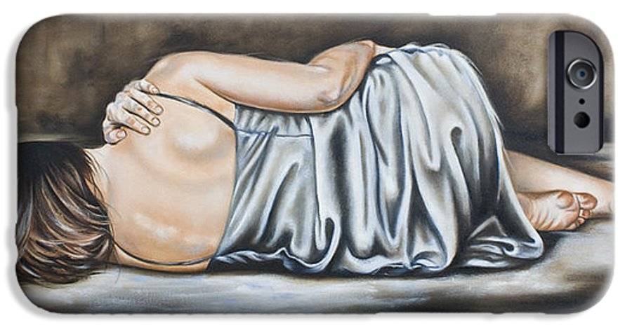 Figures IPhone 6 Case featuring the painting Figure Hundred And Fifteen Of Seven by Ilse Kleyn