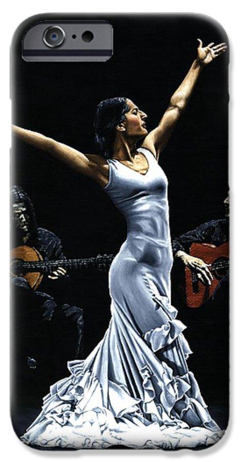 Flamenco IPhone 6 Case featuring the painting Finale Del Funcionamiento Del Flamenco by Richard Young