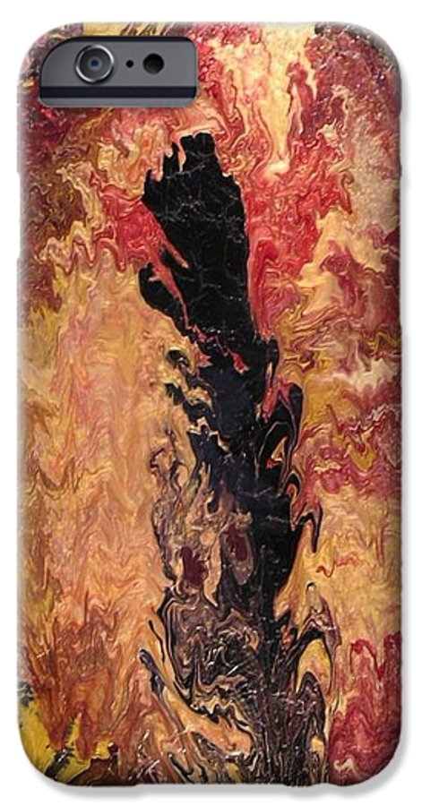 Abstract IPhone 6 Case featuring the painting Fire - Elemental Spirit by Patrick Mock
