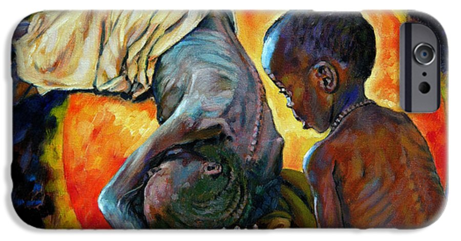 Starvation IPhone 6 Case featuring the painting First Corinthians 1-25 by John Lautermilch