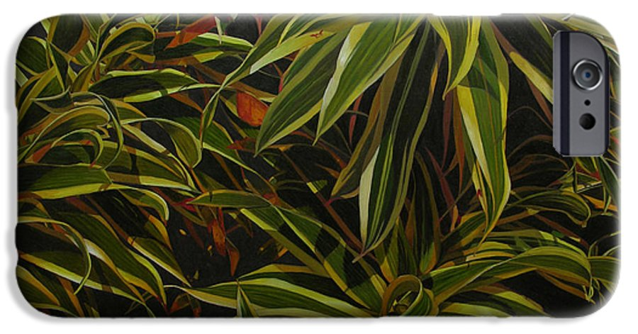 Leaves IPhone 6 Case featuring the painting First In Cabot by Thu Nguyen