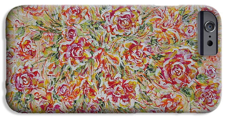 Flowers. Floral IPhone 6 Case featuring the painting First Love Flowers by Natalie Holland