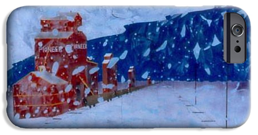Landscape IPhone 6 Case featuring the painting First Snow by Rick Silas