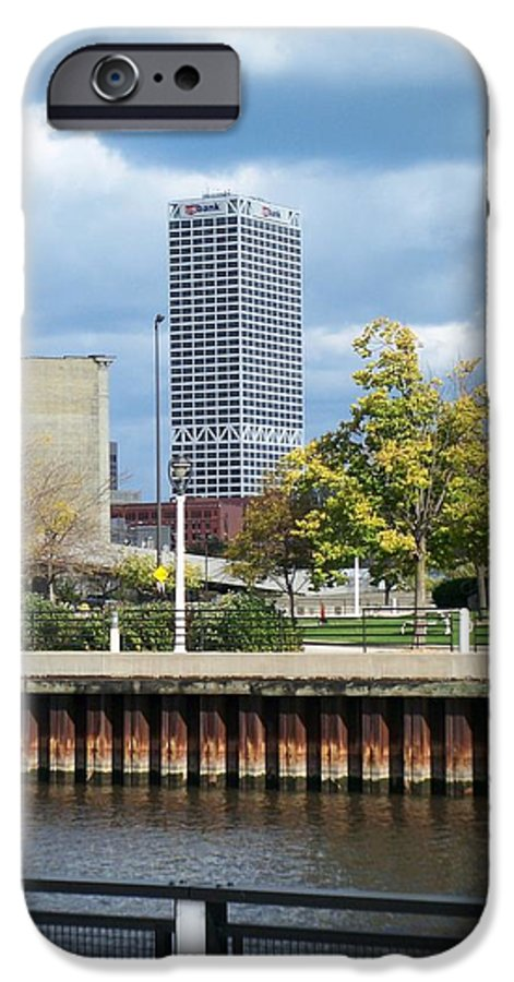 First Star Bank IPhone 6 Case featuring the photograph First Star Tall View From River by Anita Burgermeister