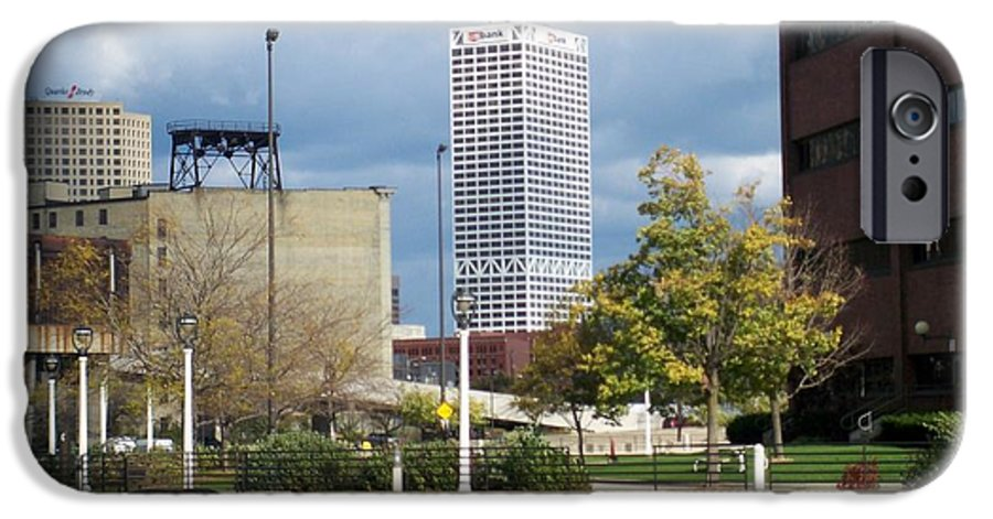 First Star Bank IPhone 6 Case featuring the photograph First Star View From River by Anita Burgermeister