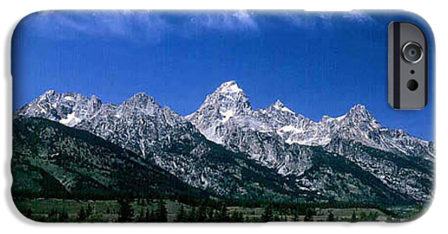 Mountains IPhone 6 Case featuring the photograph First View Of Tetons by Kathy McClure