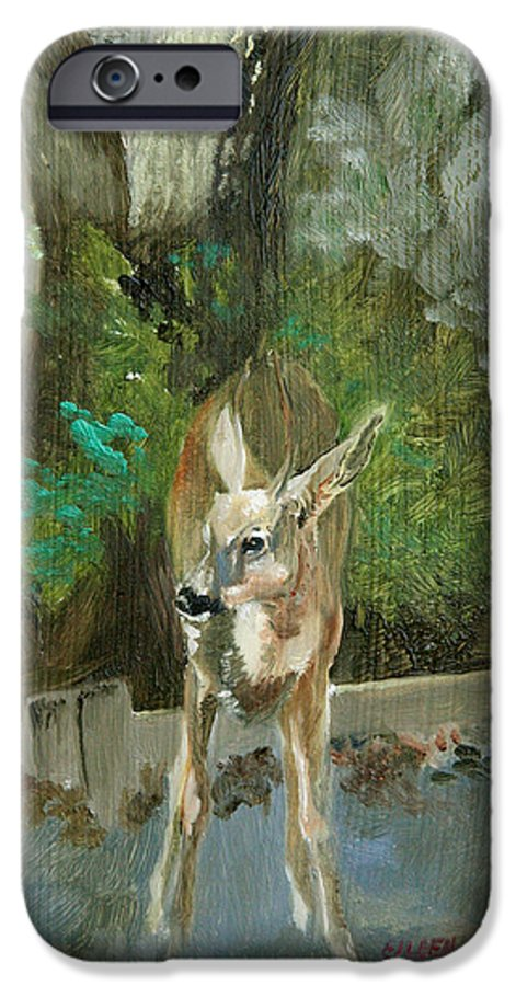 Deer IPhone 6 Case featuring the painting First Young Buck Pad by Eileen Hale