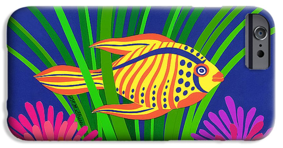 Nature IPhone 6 Case featuring the drawing Fish by Lucyna A M Green