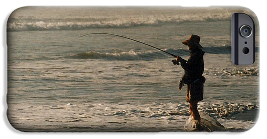 Fisherman IPhone 6 Case featuring the photograph Fisherman by Steve Karol