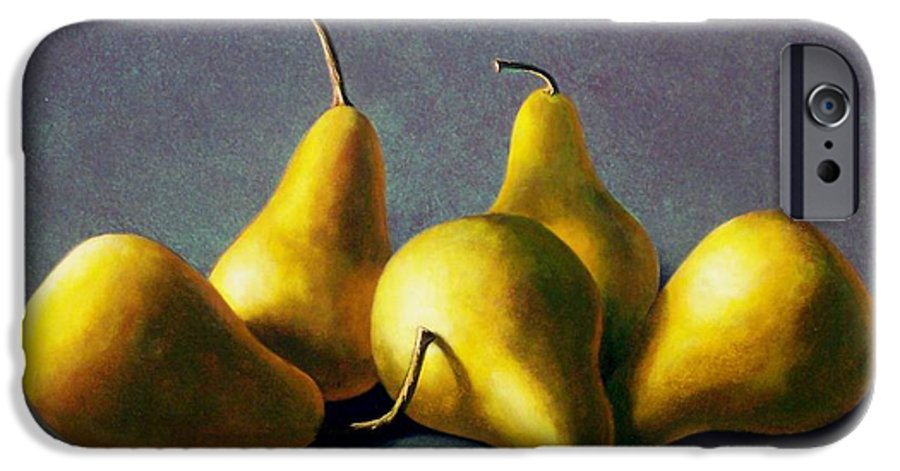 Still Life IPhone 6 Case featuring the painting Five Golden Pears by Frank Wilson