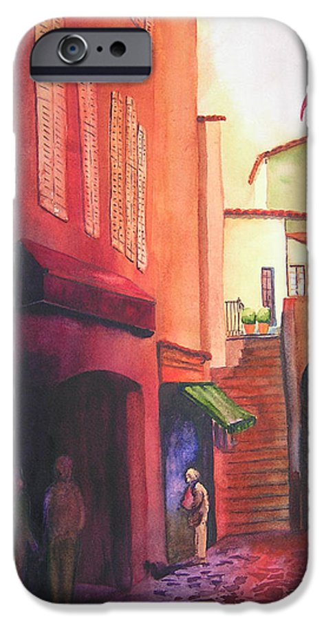 Europe IPhone 6 Case featuring the painting Flag Over St. Tropez by Karen Stark