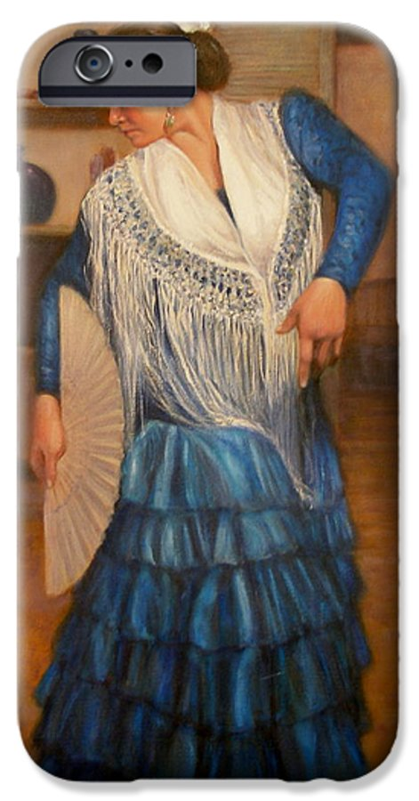 Realism IPhone 6 Case featuring the painting Flamenco 2 by Donelli DiMaria