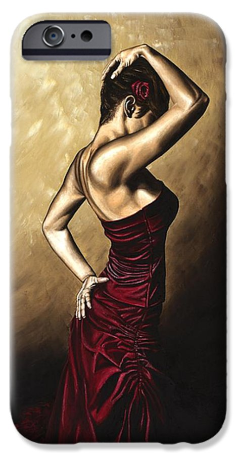 Flamenco IPhone 6 Case featuring the painting Flamenco Woman by Richard Young