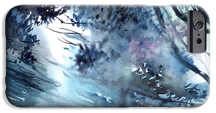 Floods IPhone 6 Case featuring the painting Flooding by Anil Nene