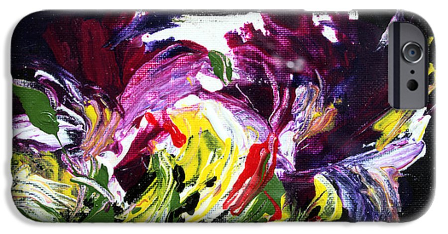 Abstract IPhone 6 Case featuring the painting Floral Flow by Mario Zampedroni