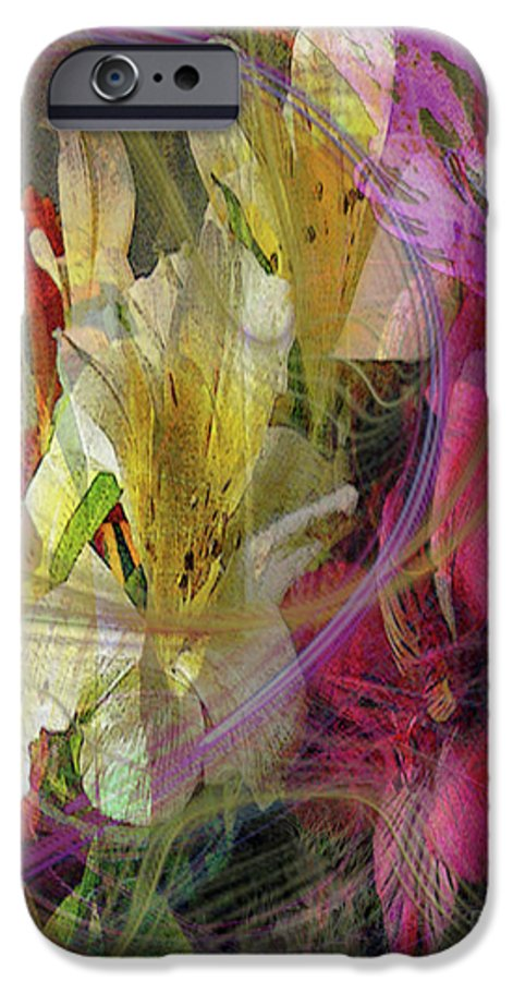 Floral Inspiration IPhone 6 Case featuring the digital art Floral Inspiration by John Beck
