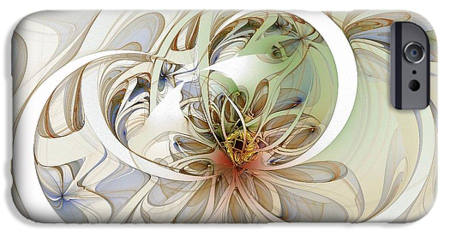 Digital Art IPhone 6 Case featuring the digital art Floral Swirls by Amanda Moore