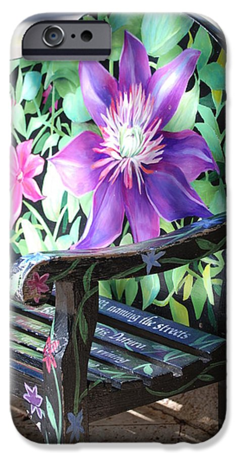 Macro IPhone 6 Case featuring the photograph Flower Bench by Rob Hans