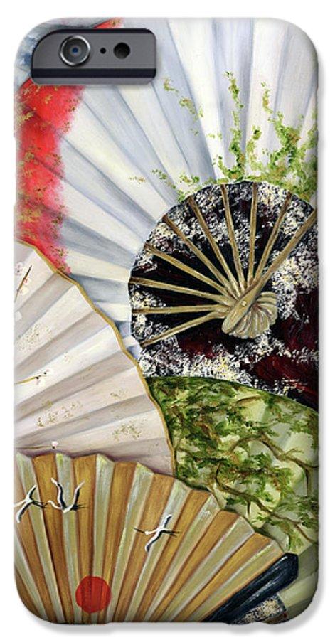 Japanese IPhone 6 Case featuring the painting Flower Garden by Hiroko Sakai