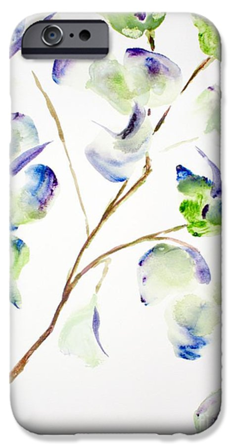 Flower IPhone 6 Case featuring the painting Flower by Shelley Jones