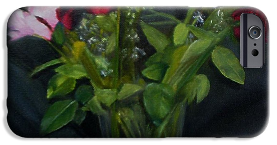 Flowers IPhone 6 Case featuring the painting Flowers For Sarah by Sheila Mashaw
