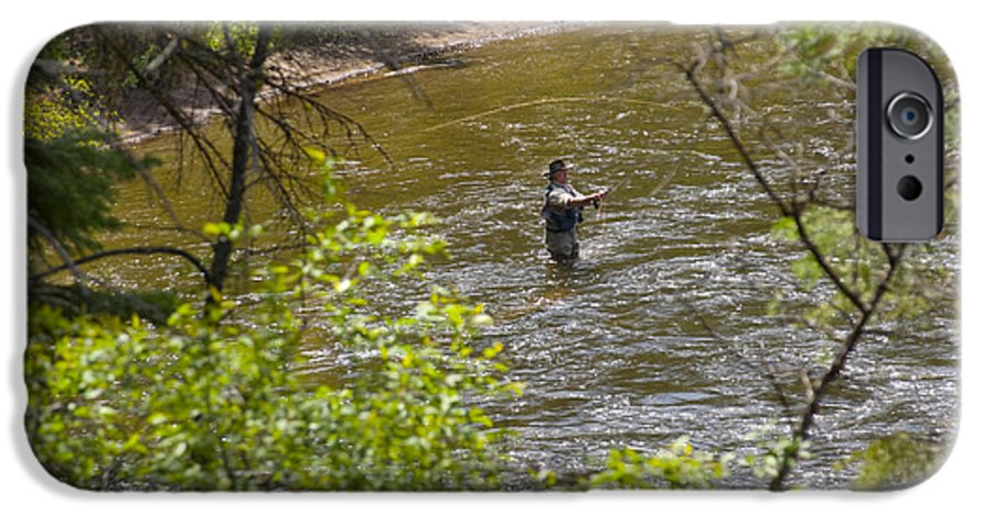 Fishing IPhone 6 Case featuring the photograph Fly Fishing by Louise Magno
