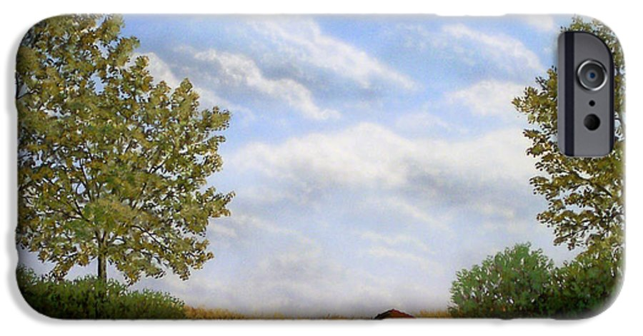 Landscape IPhone 6 Case featuring the painting Foothills Afternoon by Frank Wilson