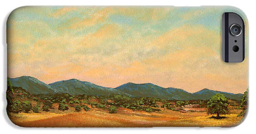 Landscape IPhone 6 Case featuring the painting Foothills by Frank Wilson