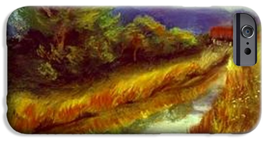 Landscape IPhone 6 Case featuring the painting For A Thirsty Land by Gail Kirtz