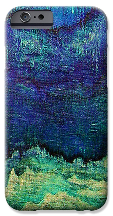 Blue IPhone 6 Case featuring the painting For Linda by Shadia Derbyshire