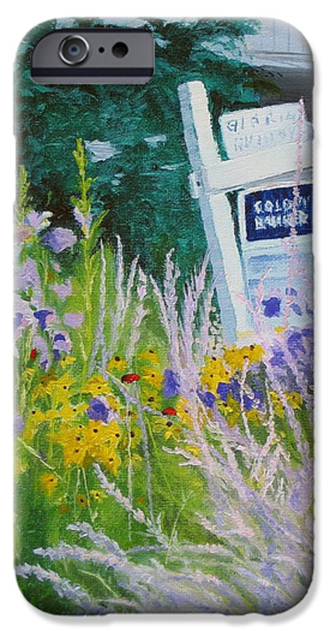 Landscape IPhone 6 Case featuring the painting For Sale - A Patch Of Paradise by Lea Novak