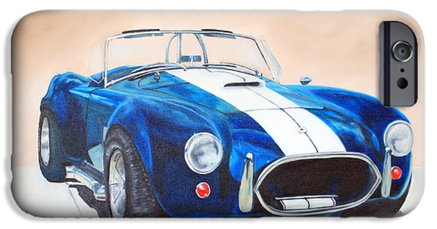 Car IPhone 6 Case featuring the painting Ford Cobra In Oil by Margaret Fortunato
