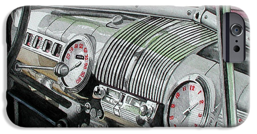Car IPhone 6 Case featuring the painting Ford Dash by Ferrel Cordle