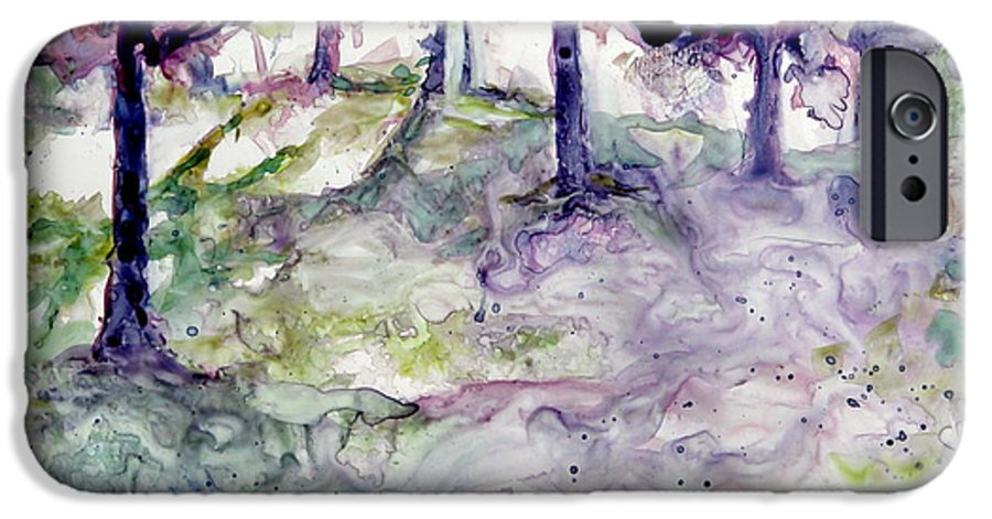 Fastasy IPhone 6 Case featuring the painting Forest Fantasy by Jan Bennicoff